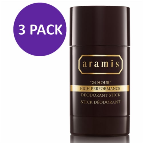 Aramis 24 Hour High Performance Deodorant Stick for Men, 2.6 Oz (Pack of 3) Perspective: front