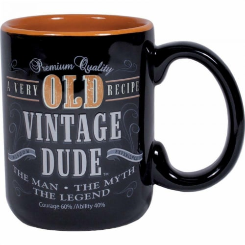 Creative Converting CS1407 14 oz Old Vintage Dude Coffee Mug Perspective: front