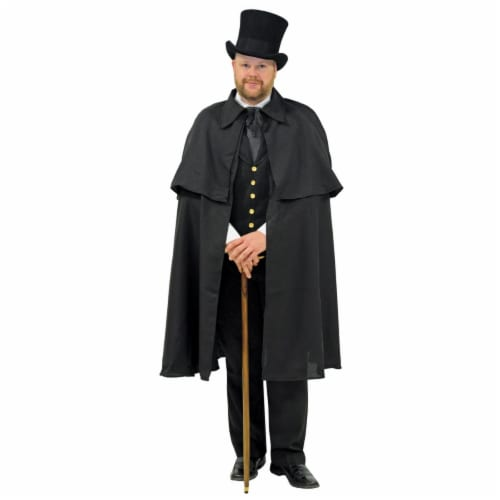 Morris Costumes AA100CH Child & Teen Dickens Cape, Black Perspective: front