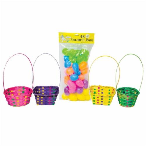 MorrisCostume VAE6 1 Easter Bskt Egg Hunt Kit - Multicolor Perspective: front