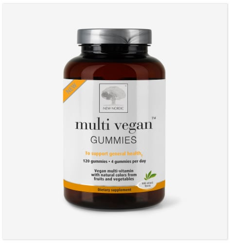 New Nordic Multi Vegan Gummies 120 Count Perspective: front