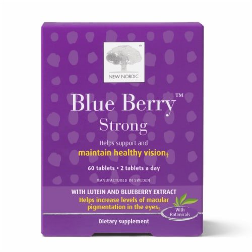 New Nordic Blue Berry Eyebright Tablets Perspective: front