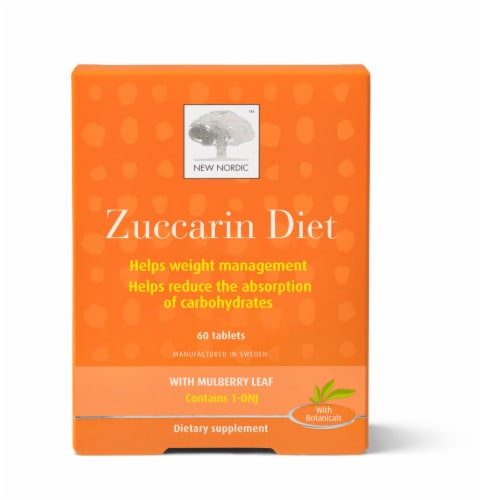 New Nordic Zuccarin Diet with Mulberry Leaf Tablets 60 Count Perspective: front