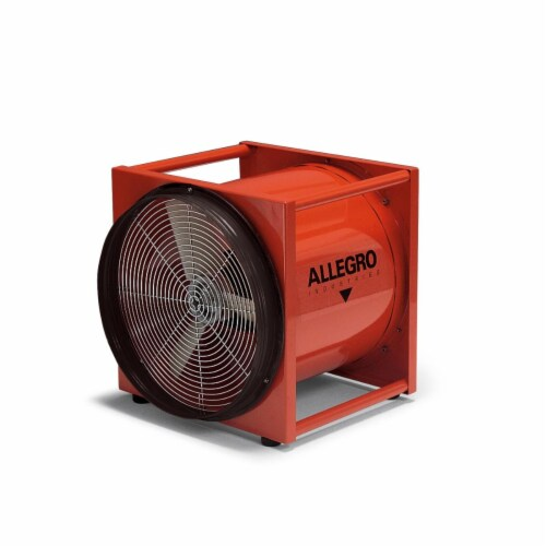 Allegro Industries 9515-DC 16 in. Axial DC Standard Metal Blower Perspective: front