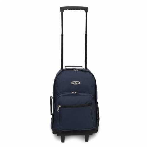 Everest Wheeled Backpack - Navy/Black Perspective: front