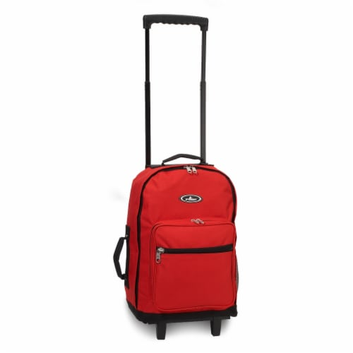 Everest Wheeled Backpack - Red/Black Perspective: front