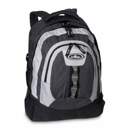 Everest Multiple Compartment Deluxe Backpack - Charcoal Perspective: front