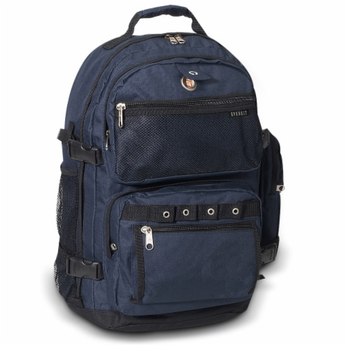Everest Oversize Deluxe Backpack - Navy/Black Perspective: front