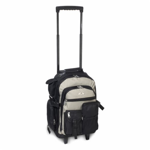 Everest Deluxe Wheeled Backpack - Khaki/Black Perspective: front
