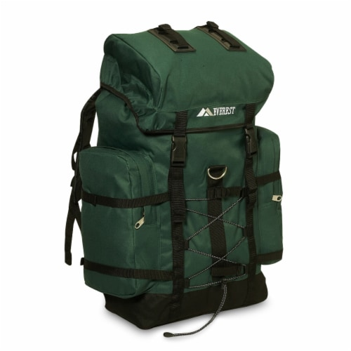 Everest Medium Hiking Pack - Dark Green/Black Perspective: front