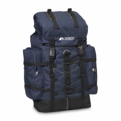 Everest Medium Navy & Black Hiking Pack Perspective: front