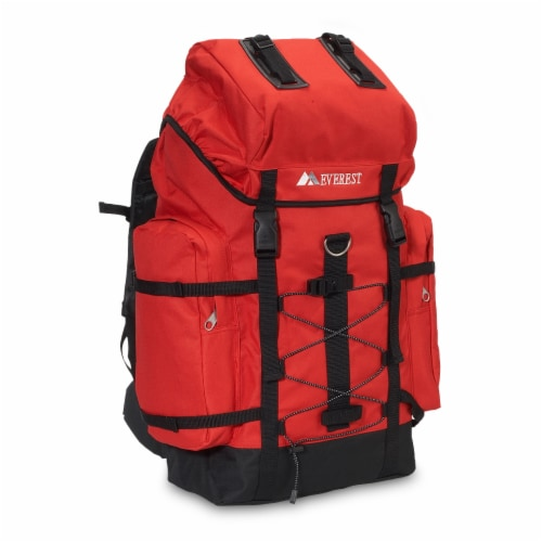 Everest Medium Red & Black Hiking Pack Perspective: front