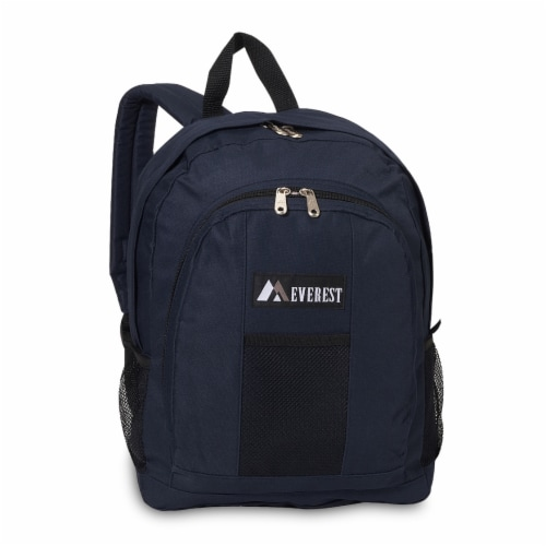 Everest Backpack with Front & Side Pockets - Navy Perspective: front