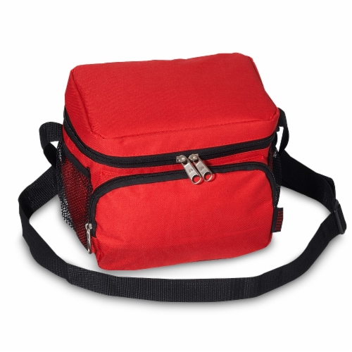Everest Insulated Red Cooler/Lunch Bag Perspective: front