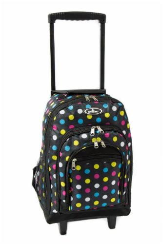 Everest Wheeled Polka Dot Backpack Perspective: front