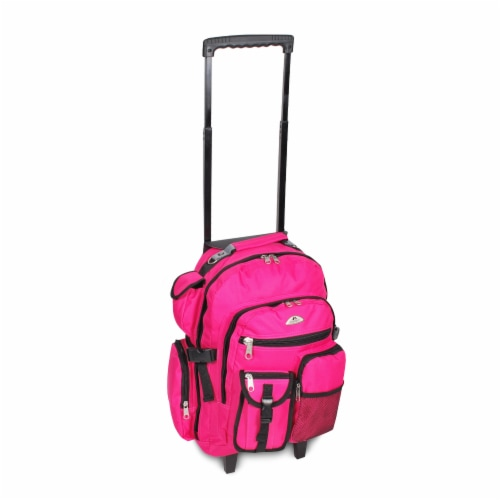 Everest Deluxe Wheeled Backpack - Hot Pink Perspective: front