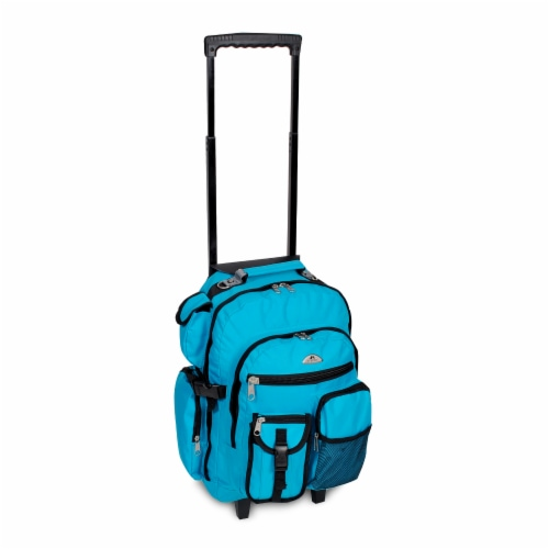 Everest Deluxe Wheeled Backpack - Turqoise Perspective: front