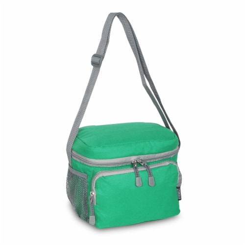 Everest Insulated Emerald Green Cooler/Lunch Bag Perspective: front