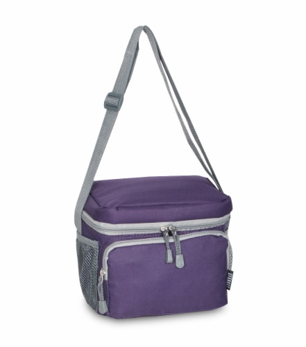 Everest Insulated Eggland & Gray Cooler/Lunch Bag Perspective: front