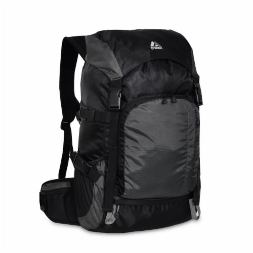 Everest Weekender Hiking Backpack - Black/Gray Perspective: front