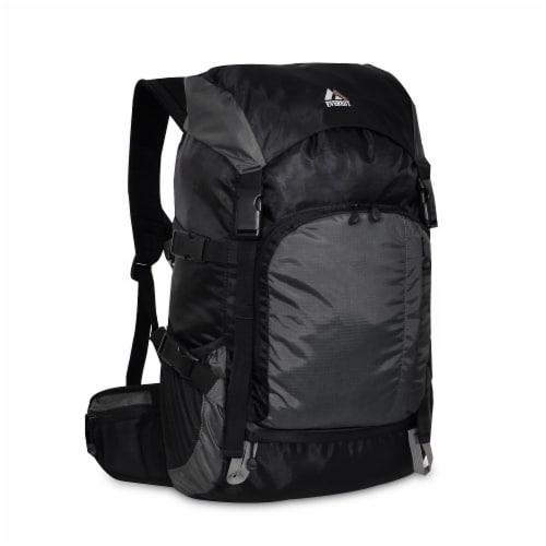 Everest Weekender Hiking Backpack - Black/Gray Perspective: front