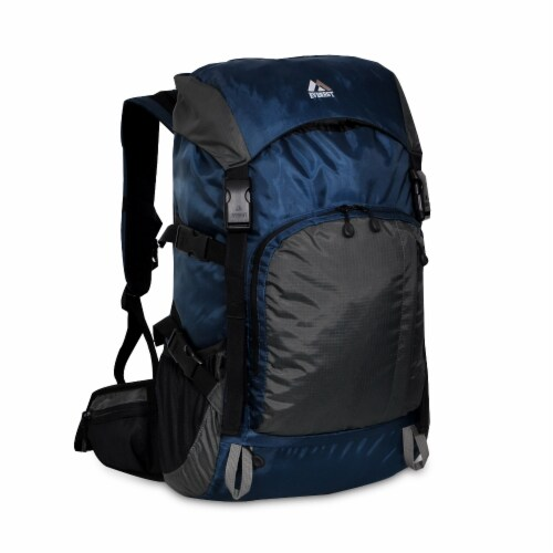 Everest Weekender Hiking Backpack - Navy/Gray Perspective: front