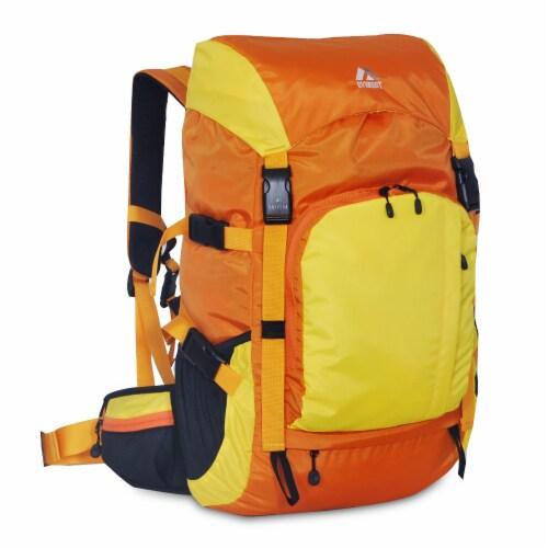 Everest Weekender Hiking Backpack - Orange/Yellow Perspective: front