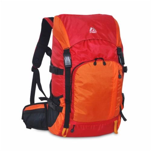Everest Weekender Hiking Backpack - Red/Orange Perspective: front