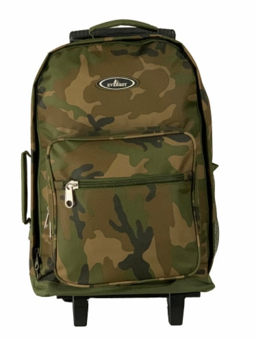 Everest Wheeled Backpack - Woodland Camo Perspective: front