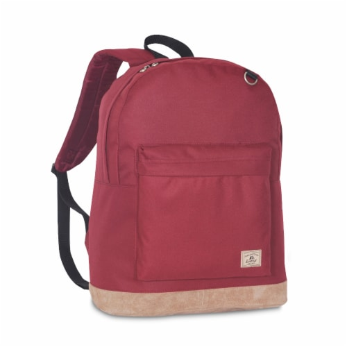 Everest Suede Bottom Backpack - Burgundy Perspective: front
