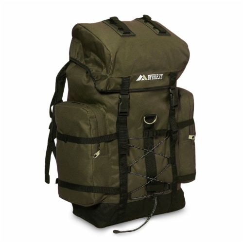 Everest Hiking Pack - Olive/Black Perspective: front
