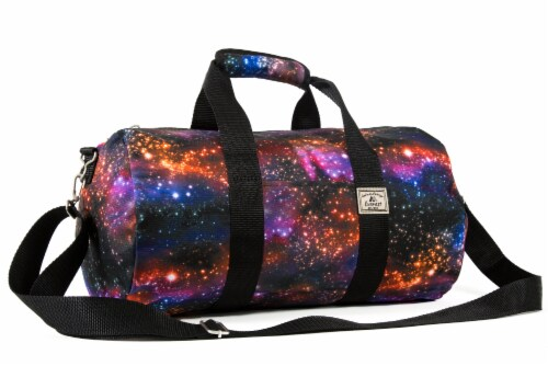 Everest Pattern Round Duffel - Galaxy Perspective: front