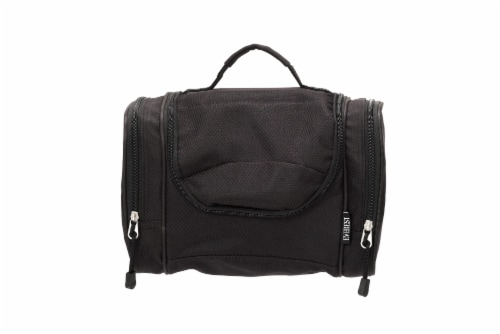 Everest Deluxe Toiletry Bag - Black Perspective: front