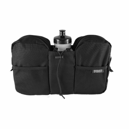 Everest Multi-Purpose Black Waist Pack Perspective: front