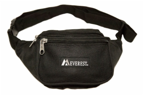 Everest Signature Small Waist Pack - Black Perspective: front