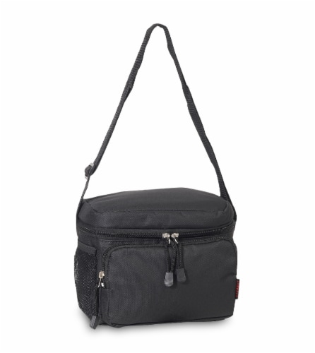 Everest Insulated Black Cooler/Lunch Bag Perspective: front