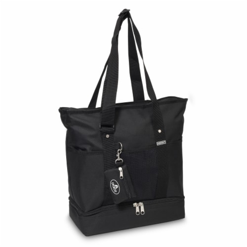 Everest Deluxe Shopping Tote - Black Perspective: front