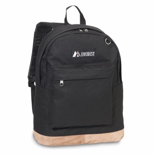 Everest Suede Bottom Backpack - Black Perspective: front
