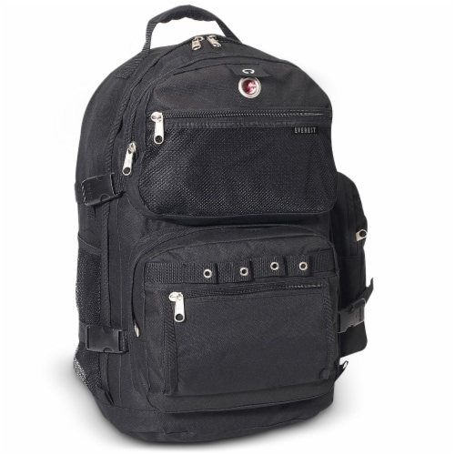 Everest Deluxe Backpack - Black Perspective: front