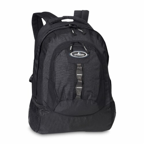 Everest Multiple Compartment Deluxe Backpack - Black Perspective: front