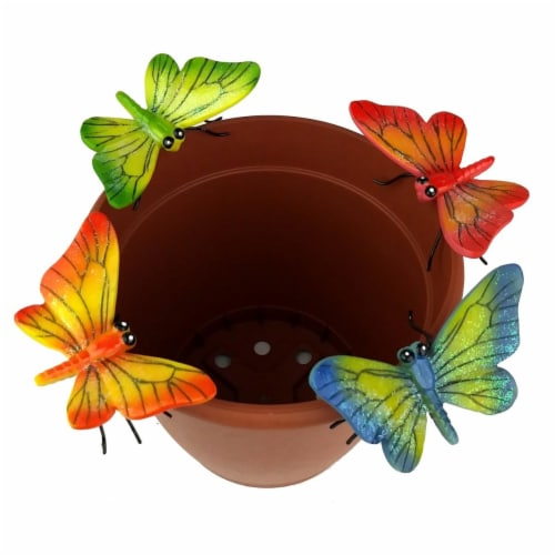 Land & Sea LS11174BF Butterfly Flower Pot Sitter Hanger - 4 Piece Perspective: front