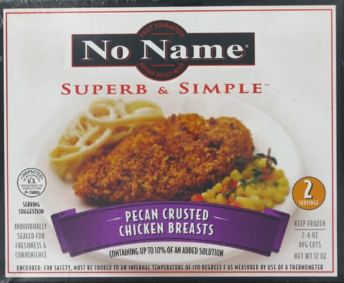 No Name Superb & Simple Pecan Crusted Chicken Breasts Perspective: front