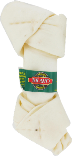 Bravo Natural Knotted Rawhide Bone Perspective: front