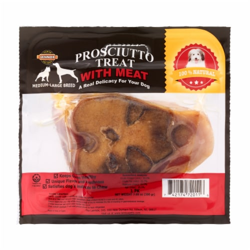 Lennox Prosciutto Meat Dog Treat Perspective: front