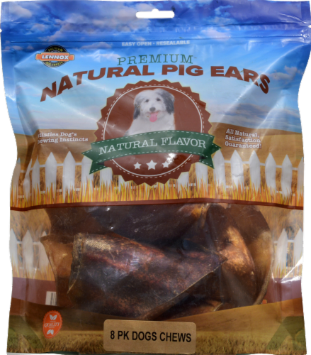 Lennox Natural Flavor Premium Natural Pig Ears 8 Count Perspective: front