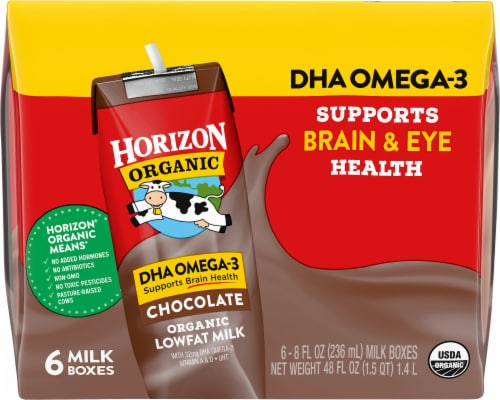 Horizon Organic DHA Omega-3 Lowfat Chocolate Milk Perspective: front