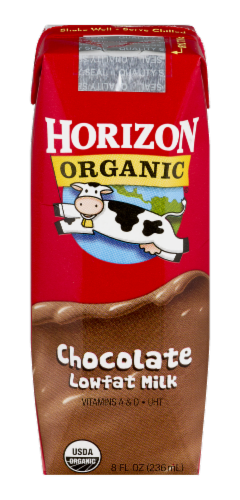 Horizon Organic Lowfat Chocolate Milk Perspective: front