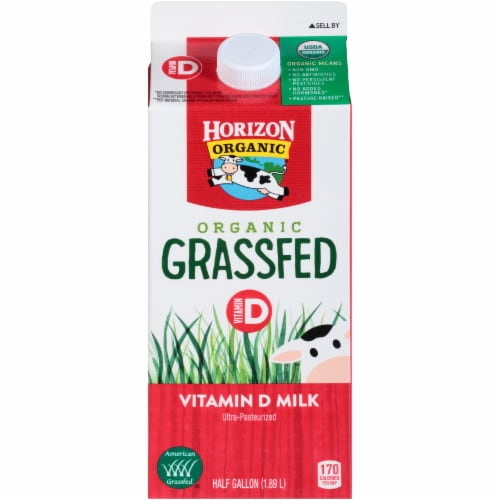 Horizon Organic Grassfed Whole Vitamin D Milk Perspective: front