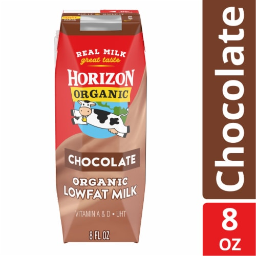 Horizon Organic Chocolate Lowfat Milk Perspective: front