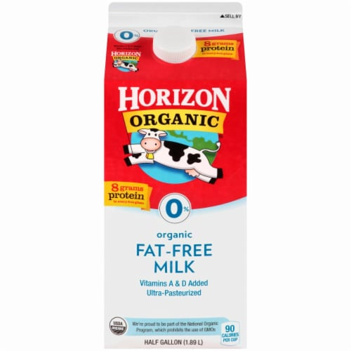 Horizon Organic Fat-Free Milk Perspective: front